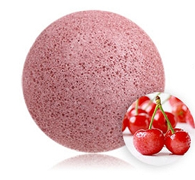 100% NATURAL AND VEGAN PUFF SPONGE FOR FACE AND BODY - CHERRY BLOSSOM KONJAC SPONGE